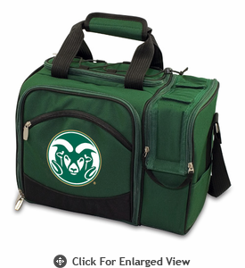 Picnic Time Malibu Digital Print - Hunter Green Colorado State Rams