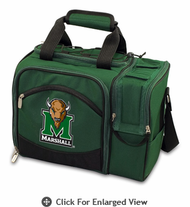 Picnic Time Malibu Digital Print - Hunter Green Marshall University Thundering Herd