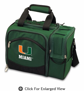 Picnic Time Malibu Digital Print - Hunter Green University of Miami Hurricanes