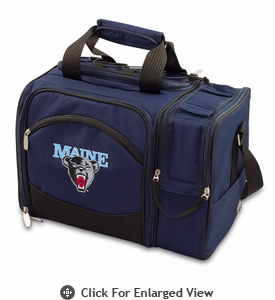 Picnic Time Malibu Digital Print - Navy Blue University of Maine Black Bears