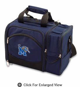 Picnic Time Malibu Digital Print - Navy University of Memphis Tigers