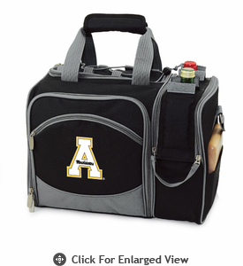 Picnic Time Malibu Embroidered - Black Appalachian State Mountaineers