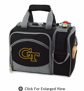 Picnic Time Malibu Embroidered - Black Georgia Tech Yellow Jackets