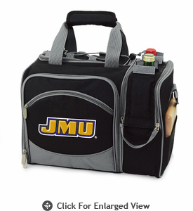 Picnic Time Malibu Embroidered - Black James Madison University Dukes