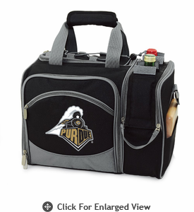 Picnic Time Malibu Embroidered - Black Purdue University Boilermakers