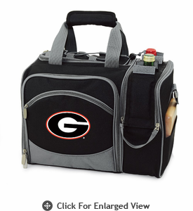 Picnic Time Malibu Embroidered - Black University of Georgia Bulldogs