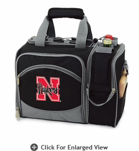 Picnic Time Malibu Embroidered - Black University of Nebraska Cornhuskers