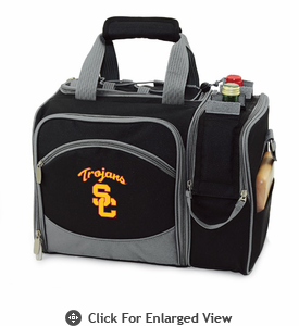Picnic Time Malibu Embroidered - Black USC Trojans