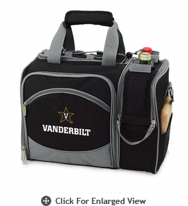Picnic Time Malibu Embroidered - Black Vanderbilt University Commodores