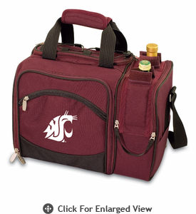 Picnic Time Malibu Embroidered - Burgundy Washington State Cougars