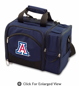 Picnic Time Malibu Embroidered - Navy Blue University of Arizona Wildcats