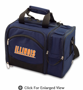 Picnic Time Malibu Embroidered - Navy Blue University of Illinois Fighting Illini