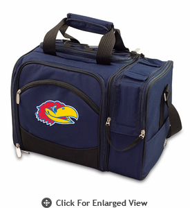 Picnic Time Malibu Embroidered - Navy Blue University of Kansas Jayhawks