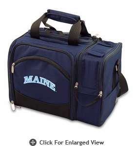Picnic Time Malibu Embroidered - Navy Blue University of Maine Black Bears