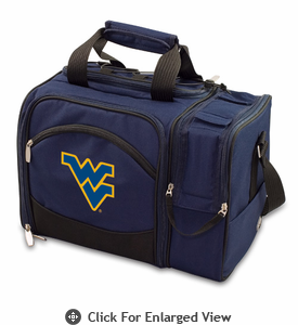 Picnic Time Malibu Embroidered - Navy Blue West Virginia University Mountaineers