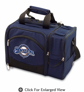 Picnic Time Malibu - Navy Blue Milwaukee Brewers