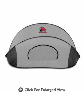 Picnic Time Manta - Black/Gray Miami University Redhawks