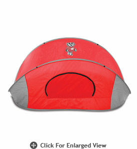 Picnic Time Manta Sun Shelter University of Wisconsin Badgers - Grey/Black
