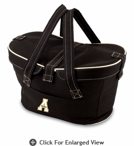 Picnic Time Mercado Basket - Black Appalachian State Mountaineers
