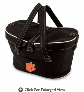 Picnic Time Mercado Basket - Black Clemson University Tigers