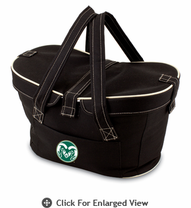 Picnic Time Mercado Basket - Black Colorado State Rams