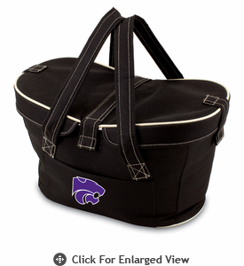 Picnic Time Mercado Basket - Black Kansas State Wildcats