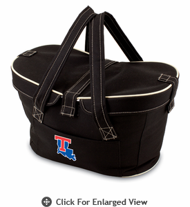 Picnic Time Mercado Basket - Black Louisiana Tech Bulldogs