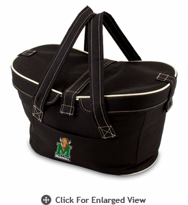 Picnic Time Mercado Basket - Black Marshall University Thundering Herd