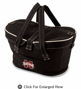 Picnic Time Mercado Basket - Black Mississippi State Bulldogs