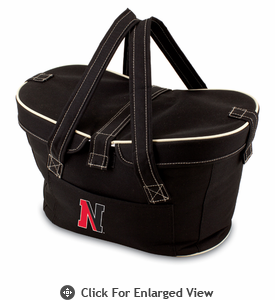 Picnic Time Mercado Basket - Black Northeastern University Huskies
