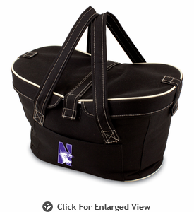 Picnic Time Mercado Basket - Black Northwestern University Wildcats