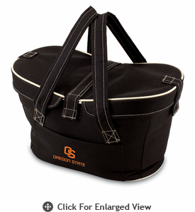 Picnic Time Mercado Basket - Black Oregon State Beavers