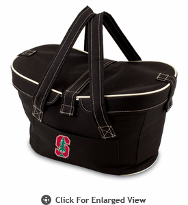 Picnic Time Mercado Basket - Black Stanford University Cardinal