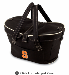 Picnic Time Mercado Basket - Black Syracuse University Orange