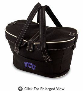 Picnic Time Mercado Basket - Black TCU Horned Frogs