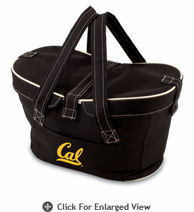 Picnic Time Mercado Basket - Black UC Berkeley Golden Bears