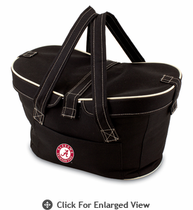 Picnic Time Mercado Basket - Black University of Alabama Crimson Tide