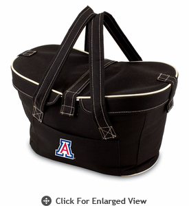 Picnic Time Mercado Basket - Black University of Arizona Wildcats