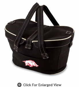 Picnic Time Mercado Basket - Black University of Arkansas Razorbacks