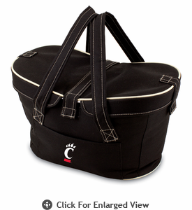 Picnic Time Mercado Basket - Black University of Cincinnati Bearcats