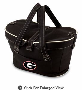 Picnic Time Mercado Basket - Black University of Georgia Bulldogs