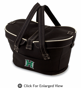 Picnic Time Mercado Basket - Black University of Hawaii Warriors