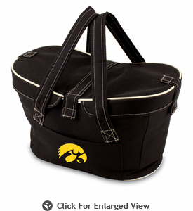 Picnic Time Mercado Basket - Black University of Iowa Hawkeyes