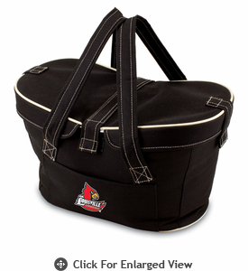 Picnic Time Mercado Basket - Black University of Louisville Cardinals