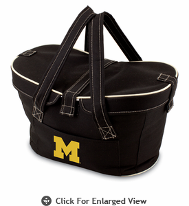 Picnic Time Mercado Basket - Black University of Michigan Wolverines