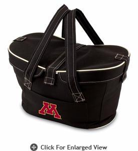 Picnic Time Mercado Basket - Black University of Minnesota Golden Gophers