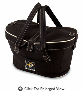 Picnic Time Mercado Basket - Black University of Missouri Tigers