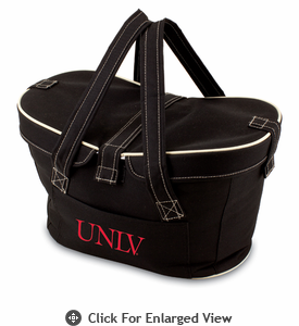 Picnic Time Mercado Basket - Black University of Nevada Las Vegas Rebels