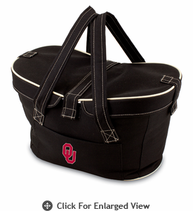 Picnic Time Mercado Basket - Black University of Oklahoma Sooners