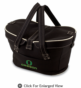 Picnic Time Mercado Basket - Black University of Oregon Ducks